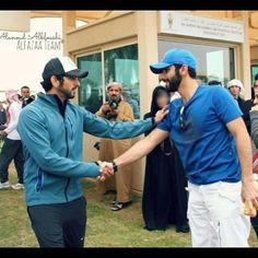 1/14 Sheikh Hamdan with brother Sheikh Mansoor at Sheikh Mohammed Endurance Race @alanoudalfazaa
