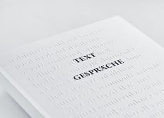 imnotagraphicdesigner:  cover of Text Gespräche book by Studio Hausherr