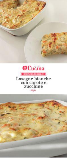 #Lasagne bianche con #carote e #zucchine della nostra utente Giada. Unisciti alla nostra Community ed invia le tue ricette!