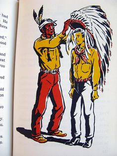 Cowboy Sam & The Indians 1960s Mid Century by BessieAndMaive, $10.00