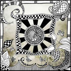 by Fifi, blogged http://tangiebaxter.com/news/2011/09/14/art-journaling-101-finding-magic-in-the-circle-mandala/