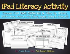iPad Literacy Creative Writing Activity - iPad is NOT needed for activity. Great for centers. (priced)