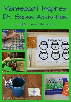 Today, I want to share some Montessori-inspired activities from around the blogosphere in honor of Dr. Seuss!