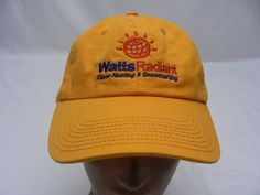 WATTS RADIANT FLOOR HEATING & SNOWMELTING - ADJUSTABLE BALL CAP HAT!  #WattsRadiant #BaseballCap