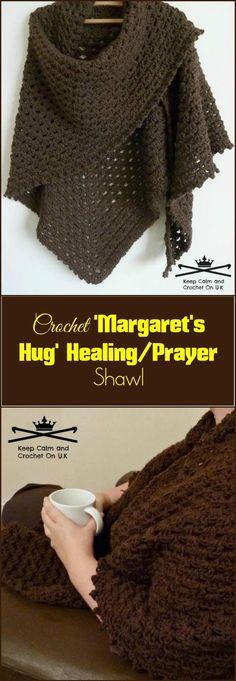 Crochet'Margaret's Hug' HealingPrayer Shawl - 100 Free Crochet Shawl Patterns - Free Crochet Patterns - Page 2 of 19 - DIY & Crafts