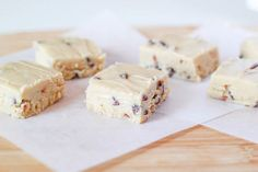 There are so many things that look tasty on this page. Chocolate Chip Cookie Dough Fudge