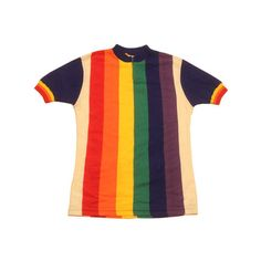 70's vintage cycle jersey made in France ($89) ❤ liked on Polyvore featuring 1970s and tops