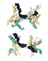 """Gymboree """"All Spruced Up"""" Curly Ribbon Clips 2-Pack"""