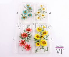 Pressed Flower case Daisy sunflower iPhone 5 case by VanTime, $11.99