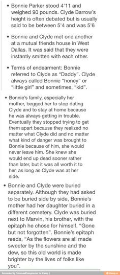 Fun facts about Bonnie and Clyde