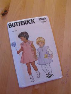 Uncut Butterick 3530 Sewing Pattern - Children's Jumper or Dress - Size 6x. $7.00, via Etsy.