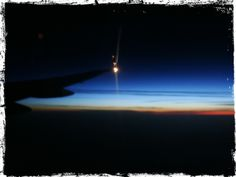 Part 1 of my shots of daylight breaking as we flew to Amsterdam. #Ireland2012