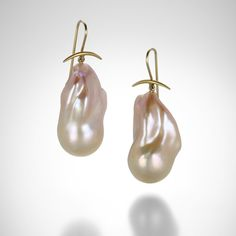 Freshwater Baroque Pearl Earrings by Gabriella Kiss @QUADRUM