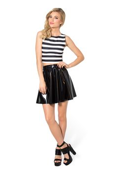 M The Stripey Wifey Top (48HR) by Black Milk Clothing $50AUD