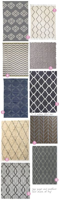 AREA RUG ROUND-UP PART 1: COOL NEUTRALS. via- lolalina