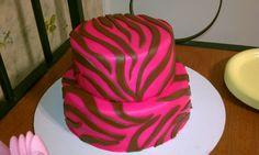 Pink zebra cake www.cakesbykimberly.biz www.facebook.com/CakesByKimberlyRitter