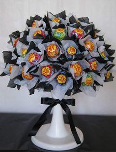 Candy bouquet. Sweet tree. Chupa Chups lolly.
