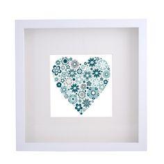 Framed Print - Floral Heart (40x40cm) - hardtofind.