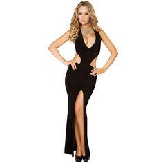 Sexy Vegas Night Club Wear Halterneck Open Back Evening Gown Dress Adult Women Sexy Long Dress, Sexy Gown, Sexy Maxi Dress, Sexy Party Dress, Sexy Dresses, Prom Dresses, Gown Dress, Long Dresses, Open Back Evening Gown
