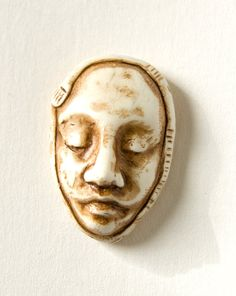 Face Cabochon Faux Carved Ivory Head with by selenaannewells, $12.00