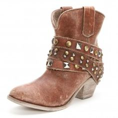 Corral Women's Studded and Strap Ankle Cowgirl Boots