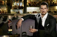 Shaken not stirred: Gandy does his best Bond impression - but swaps Bond's martini for bourbon