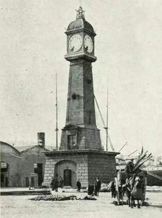 Torre del Rellotge Barceloneta, 1912. Barcelona, Catalonia.