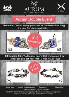 Trollbead event at Aurum Jewellers, Bedford Street - 2 & 3 November 2013
