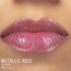 LipSense Metallic Rose Gloss by SeneGence is described as a lightly shimmering soft mauve pink gloss.  Perfect for everyday wear with or without lipstick underneath.  This color is going to be your new favorite lipcolor shade.