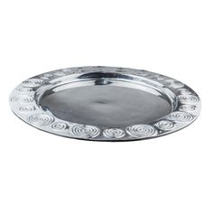 Swirl Round Tray XLarge Round Tray, Cold Meals, Serendipity, Swirls, Pewter, Traditional, Table Decorations, Tableware, Artwork