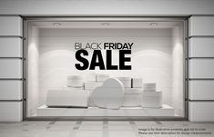 BLACK FRIDAY SALE Shop Window Sticker Retail Display Vinyl Decal