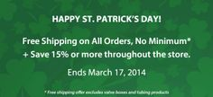 Happy St. Patrick's Day! Up to 15% OFF and FREE SHIPPING today only. http://store.rainbird.com #sprinklers #timer #water #lawn #irrigation #spring #garden