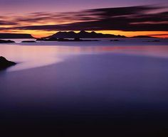 View of the Isles of Rum and Eigg - Scotland
