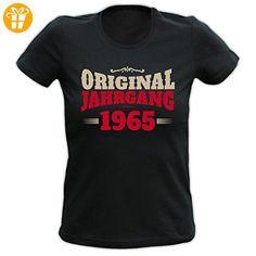 Geburtstags/Jahrgangs-Damen/Girlie/Spaß-Shirt: Original Jahrgang 1965 - tolle Geschenkidee (*Partner-Link)