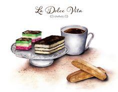La Dolce Vita The Sweet Life with espresso Italian by CarynDahm