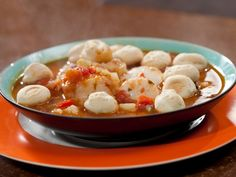 Browse healthy fish and seafood recipes using salmon, shrimp, halibut, tilapia and tuna from Food Network chefs and Food Network Kitchen. Healthy Soup Recipes, Fish Recipes, Seafood Recipes, Cooking Recipes, Healthy Meals, Healthy Eating, Delicious Recipes, Meal Recipes, Recipies