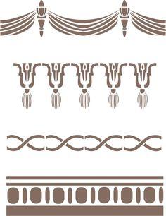 Arden Furniture Borders Stencil Set, Craft Stencil,