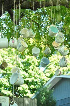 Outside Decor - Hanging Teacups