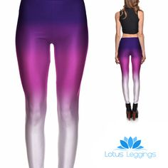 PURPLE OMBRE LEGGINGS – Lotus Leggings