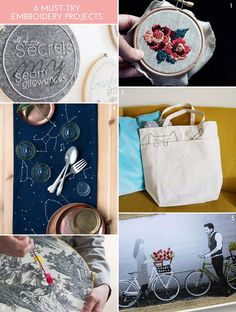 6 Must-Try Embroidery Projects - The Crafted Life