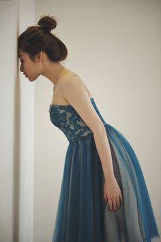 2016 Dark Teal Bridesmaid Dress, Mesh Wedding Dress, Lace Sweetheart Prom Dress, Strapless Open Back Short Formal Dress Knee Length (HS166)