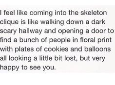 That's exactly what joining the Skeleton Clique is like lol