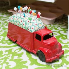 toy truck pincushion - Google Search