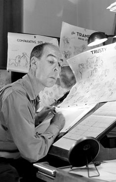 Classic animators doing reference poses for their own drawings, this is partly why animators liked to work alone.