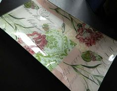 Learn to decoupage plate