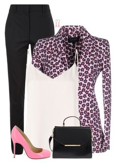 """""""Floral Blazer"""" by sherbear1974 ❤ liked on Polyvore featuring Victoria Beckham, Armani Jeans, L'Agence, Christian Louboutin, Ted Baker and Mignonne Gavigan"""