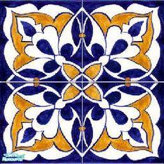 juttaponath's blue and yellow spanish tiles
