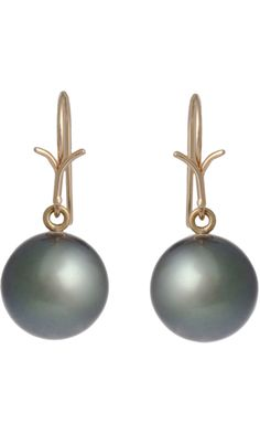Dean Harris Tahitian Pearl Drop Earrings