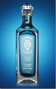 """Bombay Sapphire Limited Edition – a luxury packaging concept designed by Webb deVlam. It marks the anniversary next year of the discovery of the secret recipe upon which Bombay Sapphire gin is based. Alcohol Bottles, Liquor Bottles, Perfume Bottles, Cocktails, Alcoholic Drinks, Vodka, Ginger Ale Gin, Bombay Sapphire Gin, Cocktail"