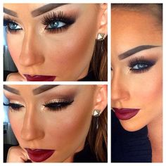 Love the lips and eye makeup. Hate the brows and lashes